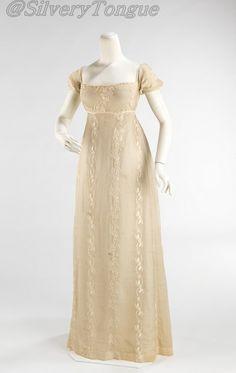 Evening Dress  c. 1810-1812  France.