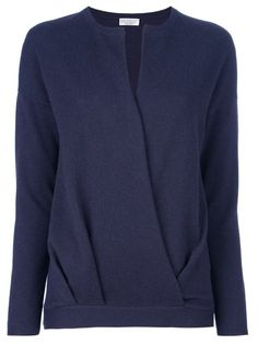 BRUNELLO CUCINELLI - cross front sweater 1