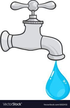 Water Faucet With Water Drop vector image on VectorStock Double Exposure Photography, Levitation Photography, Water Photography, Macro Photography, Wow Journey, Water Drop Vector, Science Classroom Decorations, World Water Day, Water Pictures