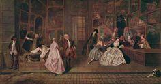 """Watteau Signboard of Gersaint 1720 - Антоан Вато - """"Фирмата на Женсен"""""""