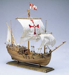 The Amati Model Ship Kit Pinta is a quality Amati Model Boat Kit making for a great Wooden Model Ship Kit. Get Started on your Hobby today! Model Sailing Ships, Model Ships, Model Ship Kits, Build Your Own Boat, Boat Kits, Sailing Outfit, Wooden Ship, Small Boats, Boat Plans