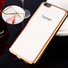 Phone Case For Huawei Honor 4X Plating Gilded TPU Silicone Soft Clear Crystal Back Case Cover Bag For Huawei Honor 4x