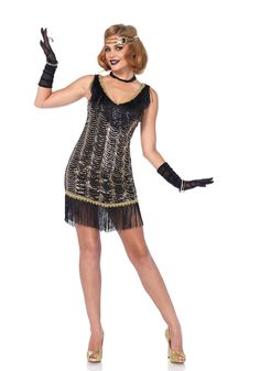 Leg Avenue 85543 Charleston Charmer Flapper Costume Dress Up Costume Gatsby, Flapper Girl Costumes, New Halloween Costumes, Gatsby Dress, 1920s Dress, Costume Sexy, Costume Dress, Cosplay Costumes, Vestido Charleston