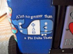 Cooler idea, got from cooler connection page Painted Fraternity Coolers, Painted Coolers, Frat Coolers, Phi Delta Theta, Delta Chi, Phi Mu, Cooler Connection, Goodbye Gifts, Cooler Painting
