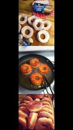 Easy cinnamon sugar donuts Canned Biscuit Dough Donuts and Holes Recipe : Paula Deen : Recipes : Food Network Just Desserts, Delicious Desserts, Dessert Recipes, Yummy Food, Donut Recipes, Brunch Recipes, Think Food, I Love Food, Food Network Recipes