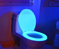 NightGlow Toilet Seat. We need these in every bathroom! Nothing irritates me more than having to turn the light on when I get up in the middle of the night to piss. TOO BRIGHT!