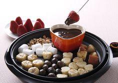 「ホットプレートのチョコフォンデュ」の料理レシピ/完成イメージ