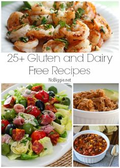 25+ Gluten and Dairy Free Recipes via NoBiggie.net... Good selection
