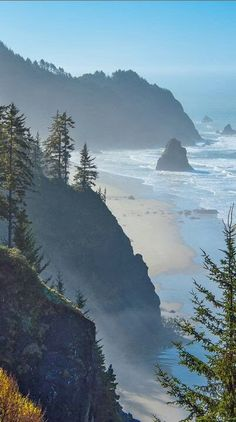scenic cliffs at the Oregon coast
