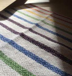 Magniloquent's Warped World: Project: Goose-eye twill tea towel series (rainbow variation)