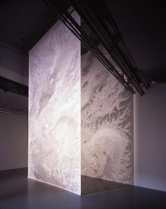 "Tomoko Shioyasu ""Cutting Insights"" ...""blessing wall"", 2006, paper, 240 × 750 cm."