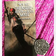 Good afternoon all my Pirate and Mermaid subscribers should read this post!! Here we have an awesome close up of the magnet that was in the March Pirate's and Mermaids box. It was designed by @treehouseofbooks and features a quote by Captain Jack Sparrow.  With the magnet each subscriber received a movie prop replica treasure piece. Its metal not plastic and one of them has the Black Spot!!!! Don't worry mates its a good thing! It means you are a winner!!! I drew something specific on the…