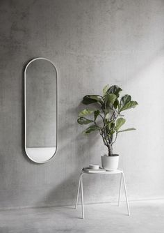Oval Wall Mirror by Norm Architects