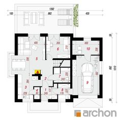 Dom w rododendronach 20 (N) Floor Plans, House Design, Houses, Architecture Illustrations, Floor Plan Drawing, House Floor Plans