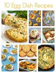 If you are looking for ways to use up leftover eggs or just want to eat more eggs, then check out these amazing Egg Dish Recipes from some of my favorite bloggers. - 10 Egg Dish Recipes on Sugar, Spice and Family Life