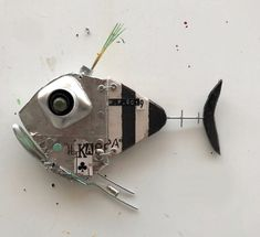 Fish Sculpture, Steel Art, Found Object Art, Fish Design, Fish Art, Wood Crafts, Steampunk, Scrap, Objects