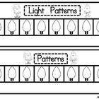 Create Light Patterns for KindergartenThis is part of my Christmas Fun Math Stations Unit. Also in the unit are Counting Light Cards, Addition, S...