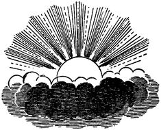 This vintage celestial sun and clouds image could be used for so many things. It would make a cute decoupage image for a journal cover DIY craft project. Click the read more link to download JPEG o...
