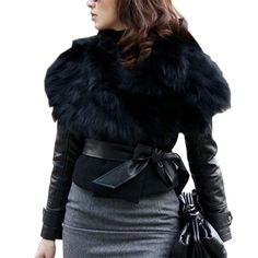 Faux Fur Sunday Angora Yarns Coat Sleeveless Outerwear