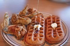 Chicken Wings and a Waffle