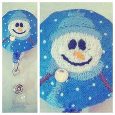 $6.00 Snowman Badge Reel
