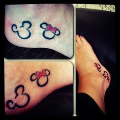 Minnie & mickey mouse disney tattoo