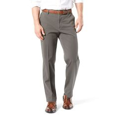 Big & Tall Dockers® Smart 360 Flex Classic-Fit Workday Khaki Pants D3, Men's, Size: 40X36, Dark Grey