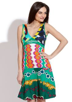 DESIGUAL GreenPretty Girl Dress (I'm so in love with this brand)