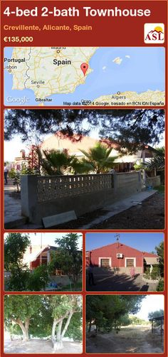 4-bed 2-bath Townhouse in Crevillente, Alicante, Spain ►€135,000 #PropertyForSaleInSpain