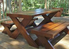 Picnic table DIY project from Ana White