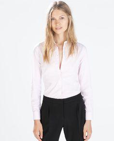 ZARA - WOMAN - POPLIN SHIRT - looks like DW icy pinks