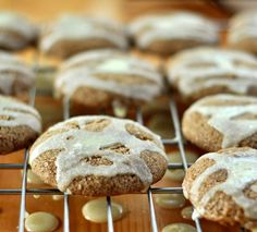 Chewy Molasses Cookies with Crunchy Lemon Glaze