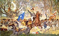 This is an image of the battle of Eutaw springs. This Battle took place on September 8, 1781. There was no specific victor.