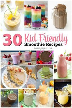 Smoothie project pinterest healthy smoothies smoothies and pdf 30 kid friendly smoothie recipes forumfinder Gallery