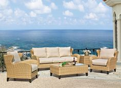Great outdoors at Emerald Home Furnishings has added outdoor collections this summer. This is Avignon, which offers an all-weather weave and resilient cushions. Wicker Furniture, Outdoor Furniture, Houston, Outdoor Sofa, Outdoor Decor, Cushions, Lounge, Bed, Weave