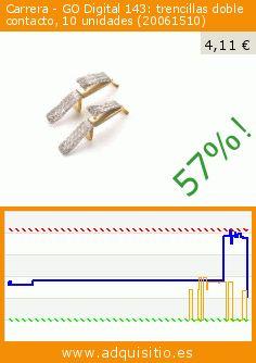 Carrera - GO Digital 143: trencillas doble contacto, 10 unidades (20061510) (Juguete). Baja 57%! Precio actual 4,11 €, el precio anterior fue de 9,53 €. http://www.adquisitio.es/carrera/double-sliding-contact