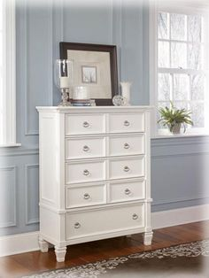 Prentice Cottage White Wood Bedroom Drawer Chest