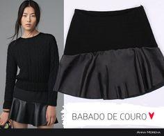 Anna Morena   Fall Winter Lookbook 2014   Lookbook Outono Inverno 2014   saia com babado em couro; saia preta; moda feminina; trend.
