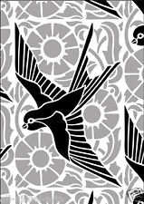 Art Deco frosted etched glass vinyl BIRDS stickers for shower screens window