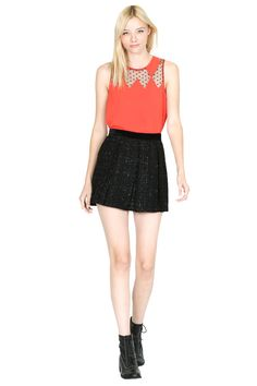 Sugarlips Anastasia Tweed Skirt