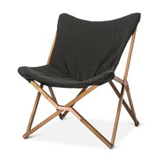This elegantly designed and crafted Butterfly chair is the perfect seating solution to your Apartment, Dorm room, living room, or game room. Can be erected for permanent use or folds for easy storage.  Sturdy beech wood frame with decorative connecting hardware.  Polyurethane cushioned linen fabric sling is durable, comfortable and attaches to frame with secure straps.  Design blends with any room décor.