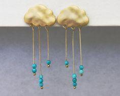 Orecchini nuvola di pioggia.  Orecchini nuvola di di GojoDesign, $22.05