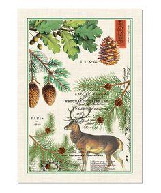 Amazing Balsam Fir Rustic Kitchen Towel By Michel Design Works Deer Pinecones