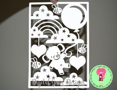 Elephant, New Baby Papercut SVG / DXF Cutting File For Cricut / Silhouette and PDF Printable For Hand Cutting, Download, Commercial Use Ok by DigitalGems on Etsy