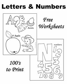 Free worksheets - Learning letters and number!