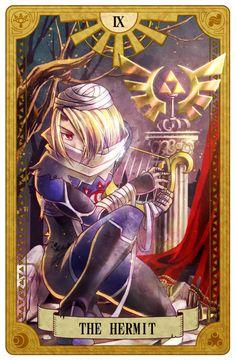 The Hermit, Legend of Zelda, Tarot artwork by 空谷 (Kuukoku)