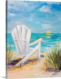 Beach Canvas Paintings, Beach Canvas Art, Diy Canvas Art, Seascape Paintings, Beach Art, Landscape Paintings, Big Canvas, Painting Canvas, Diy Painting