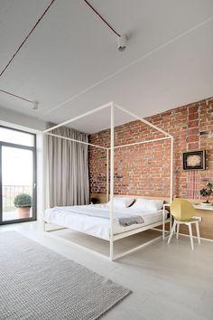 Asha baldaquin bed Available at Property Furniture. lipinka apartment by Slava Balbek, via Behance.