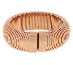 Bronzo Italia Average Bold Polished Tubogas Cuff Bracelet
