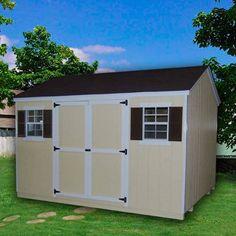 Have to have it. Little Cottage 12 x 10 ft. Value Workshop Precut Garden Shed - $1924.99 @hayneedle.com